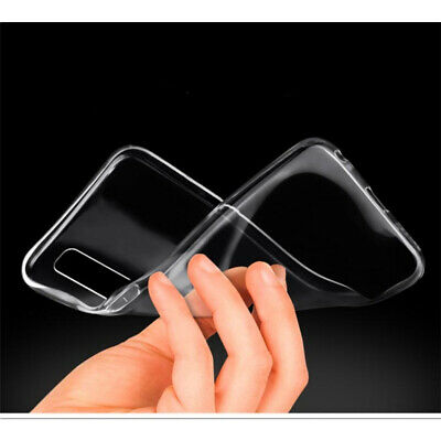 For Samsung Galaxy A70 A50 A40 Crystal Clear Slim Soft Silicone Phone Case Cover 7
