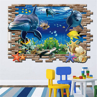 Mammel Fish Animal Decal Wall Art Sticker Picture Dophin