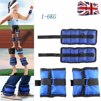 1-6KG Wrist & Ankle Weights Leg Strap Adjustable Strength Run Fitness Training 8