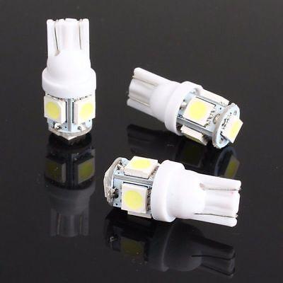 10PCS T10 Wedge 5-SMD 5050 LED Parking/Backup Light Bulb W5W 2825 158 192 168 US