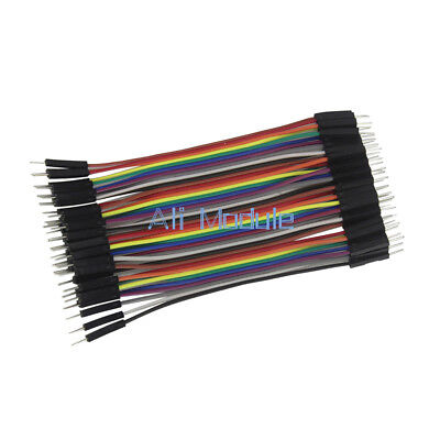 Durable 40pcs Dupont 10CM Male To Male Jumper Wire Ribbon Cable for Breadboard 2