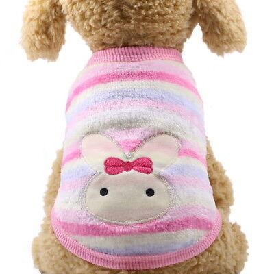 Puppy Vest Small Teacup Dog Clothes Velvet Coat Chihuahua Pets Cat Apparel Hot 4