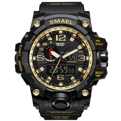 SMAEL S Shock Waterproof Sports Military Men's Analog Quartz Digital Watches 5