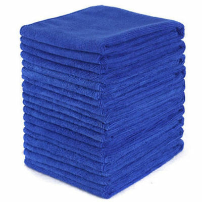 5Pcs Absorbent Microfiber Towel Car Home Kitchen Washing Clean Wash Cloth Blue 2