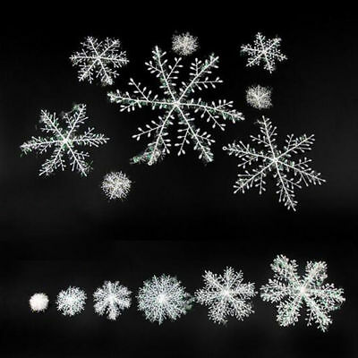 12/30/ 60pcs Classic White Snowflake Ornaments Christmas Tree Party Home Decor F 8