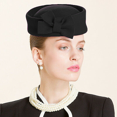 Ladies Beret Felt Wool Fascinator Bridal Wedding Pillbox Royal Ascot Hat T184 3