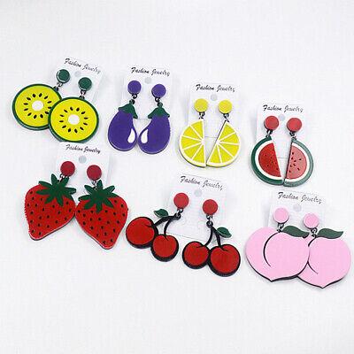 Fashion Women Delicious Fruit Acrylic Pendant Dangle Ear Studs Earrings Jewelry 5