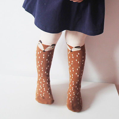 Baby Kids Girls Cotton Fox Tights Socks Stockings Pants Hosiery Pantyhose 8