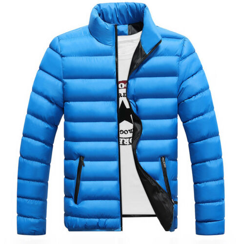 Men's Winter Lightweight Down Jacket Quilted Padded Puffer Coat Outwear Overcoat 6