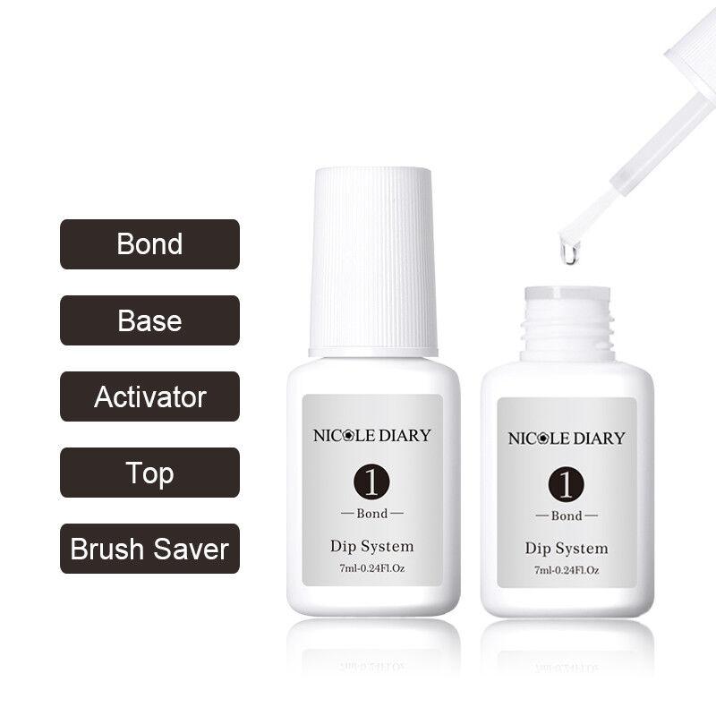 7ml NICOLE DIARY Dipping Powder System Liquid No UV Lamp Needed Nail Art Pro Kit 5