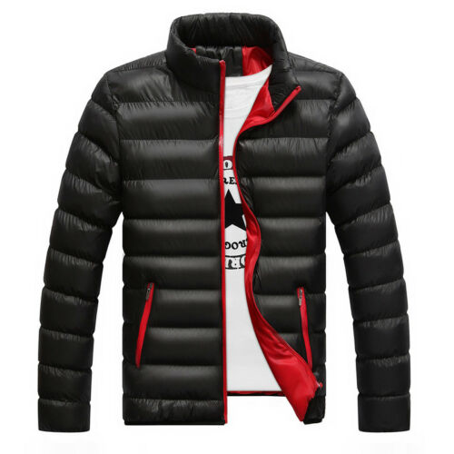 Men's Winter Lightweight Down Jacket Quilted Padded Puffer Coat Outwear Overcoat 3