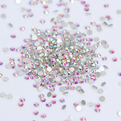 AB Color Nail Rhinestones Glitter Crystal Flatback 3D Nail Art Decoration Tips
