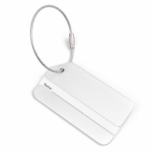 New 1PC Aluminium Luggage Tag Suitcase Label Name Address ID Bag Baggage Tag Hot 9