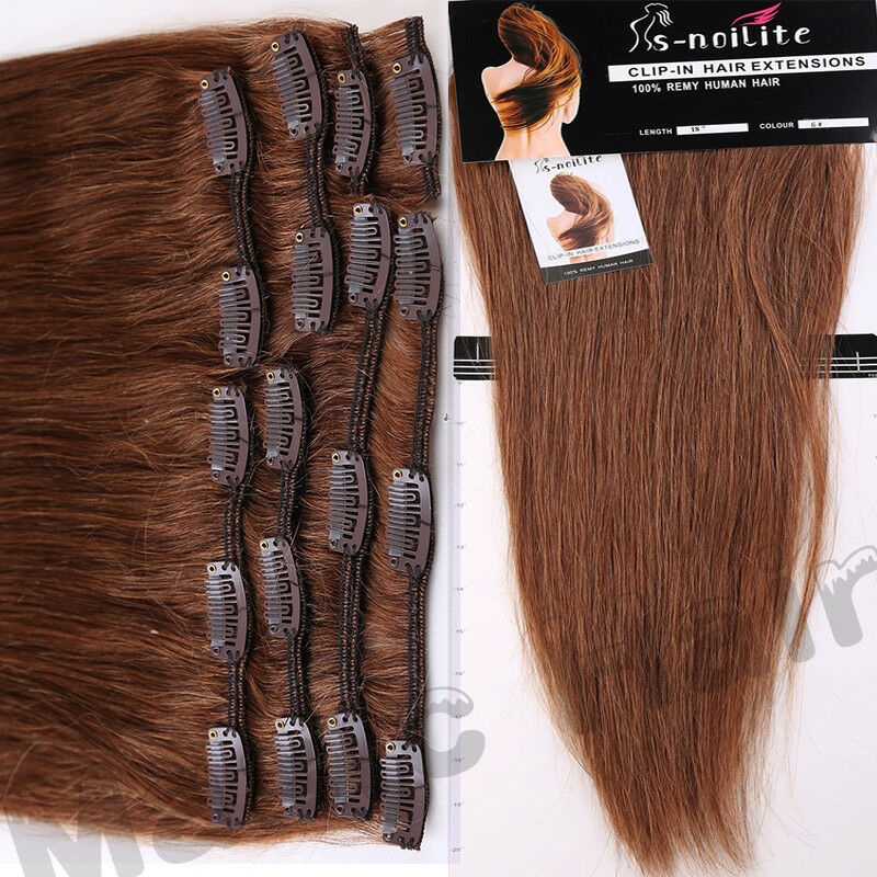 Aaaa 100 Soft Clip In Remy Real Human Hair Extensions Highlight