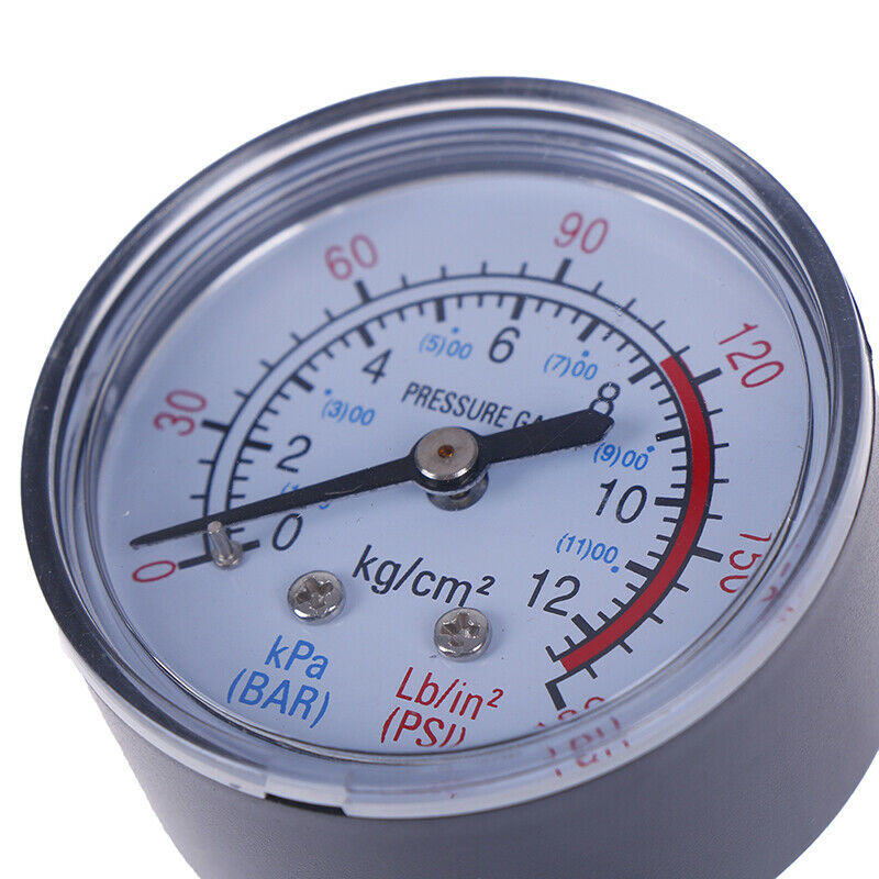 Bar Air Pressure Gauge 13mm 1/4 BSP Thread Double Scale For Air Compres ue 6