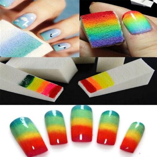 1set Nail Art Sponge Stamp Stamping Polish Template Transfer Manicure DIY Tools 2