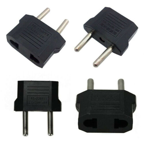 5pcs US USA to EU Euro Europe Power Wall Plug Converter Travel Adapter 4H