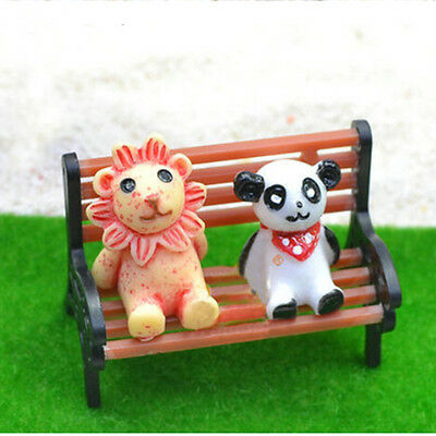Mini Garten Ornament Miniatur Park Sitzbank Handwerk Fee Puppenhaus Dekor KQ