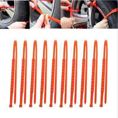 10Pcs/set Anti-skid Chains for Car Snow Mud Wheel Tyre Thickened Tire Tendon new 2