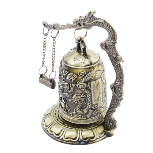 Gift Bronze Lock Home Decoration Retro Ornament Chinese Style Hit Dragon Bell 5