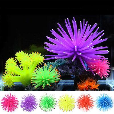 NEW Aquarium Fish Tank Landscaping LED Light Decor Glow Jellyfish Coral Ornament 3