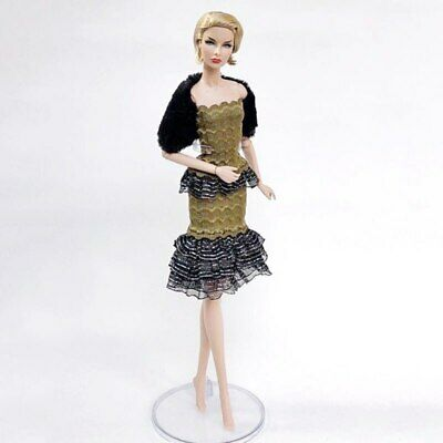 1set High Fashion Doll Clothes for 1/6 Doll Outfits Top Shirt & Skirt & Shawl 4