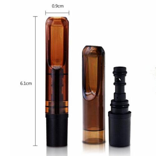 20PCS Reusable Reduce Tar Smoke Tobacco Filter Cigarette Holder Brown Color US 3