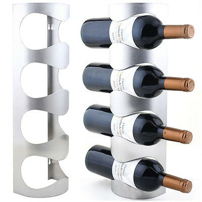 Excellent Houseware Metal Wall Mounted 3/4 Bottle Wine Holder Storage Rack HIAU 3
