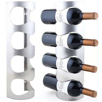Excellent Houseware Metal Wall Mounted 3/4 Bottle Wine Holder Storage Rack  OZ