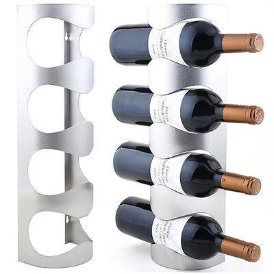 Excellent Houseware Metal Wall Mounted 3/4 Bottle Wine Holder Storage Rack gt 3
