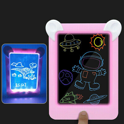 MagicToy Pad Light Up Drawing Pad with Neon Pen Creative Glow Art Light Effect 5
