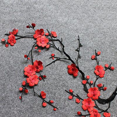 Broderie de fleurs de fleur de prunier brodée sur l'artisanat motif applique 3