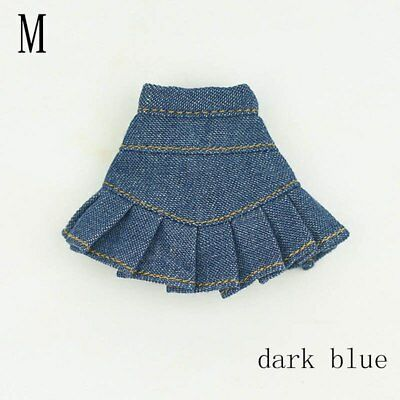 """Blue Jeans Casual Wear Clothes For 11.5"""" Doll Kids Toy A-line Skirt For 1/6 Doll 4"""