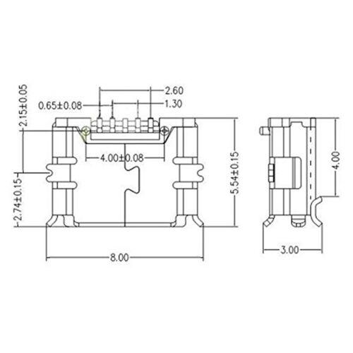 20 Pcs Micro USB Type B Female 5-Pin Socket 180 SMD Soldering Degree  J7 3
