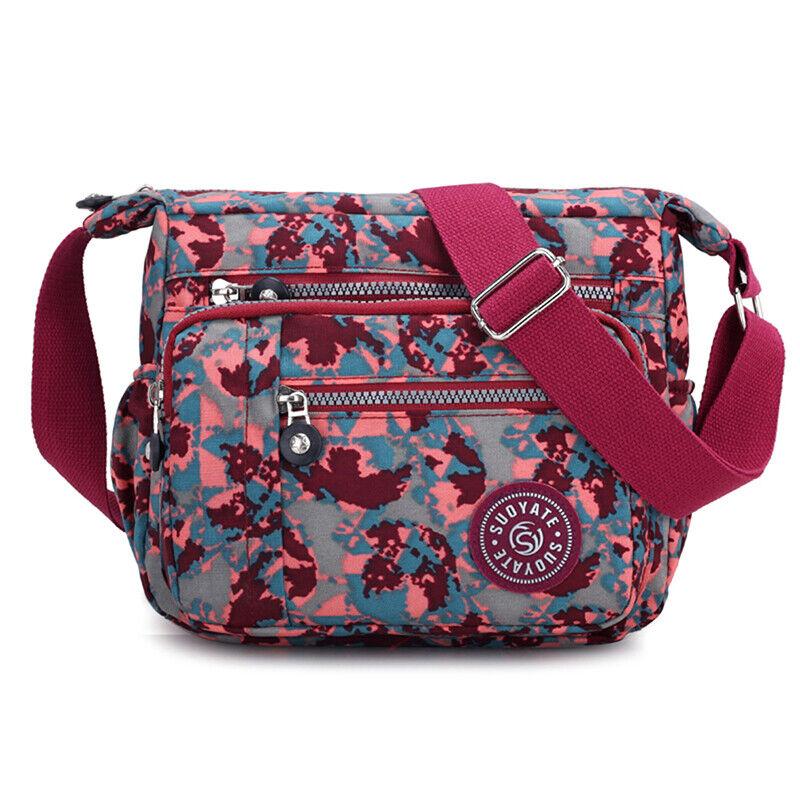 Women Canvas Handbag Pocket Shoulder Bag Travel Messenger Crossbody JJ 6