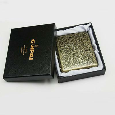 Bronze Portable 20 Pcs With Gift Box Vintage Cigarette S Case Metal Steel Holder