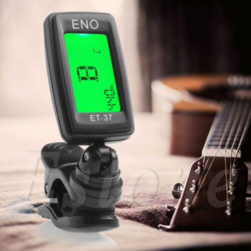 Digital LCD Chromatic Electric Guitar Clip On Tuner Acoustic Bass Violin Ukulele 2