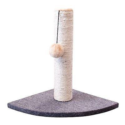 Cat Kitten Corner Sisal Scratching Pole Post Pet Toy Scratcher Play Activity UK 3