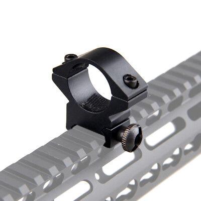 """45°& 1"""" 25.4mm Ring QD Clamping Mount 20mm Rail Fr Hunt Flashlight Laser Shotgun 9"""