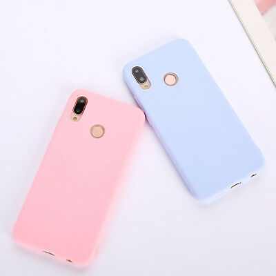 Candy Color Case for Huawei Y5 Y6 Y7 Y9 Honor 8x P20 Cover Smart Soft Silicon 6