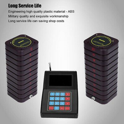 Restaurant Calling Pager Paging System Equipment 1Transmitter+20 Coaster Pagers 6