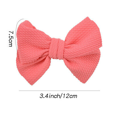 Nylon Baby Toddler Girls Big Bow Knot Headband Hairband Stretch Turban Head Wrap 4