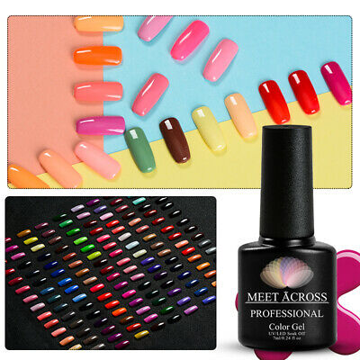 MEET ACROSS Nail Art Gel Color Polish Soak-off UV/LED Manicure DIY Varnish 7ml 4