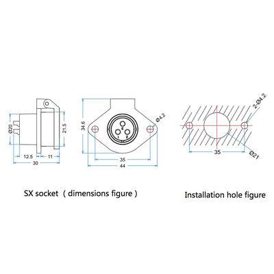 4 Pin Power Industrial Connector Male Plug Female Socket Outdoor Waterproof IP67