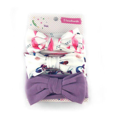 3Pcs Cotton Stretchy Knotted Ear Headbands Hair Band for Baby Girl Newborn New 8