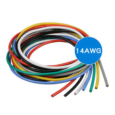 16 18 20 ~ 28AWG Silicone Wire Cable Copper Line Tinned Flexible Stranded 5M 10M 4