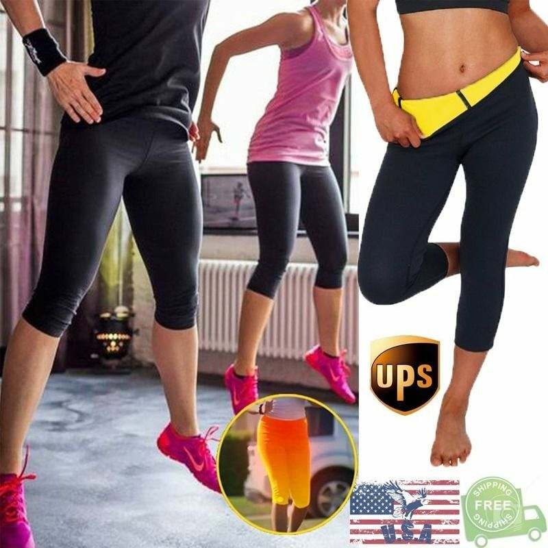 Sweat Sauna Body Shaper Slimming Pants Thermo Neoprene Gym Weight Loss USPS N075 4