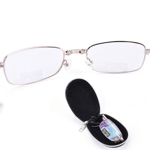 Gafas de lectura metal Snap plegable con case +1.0 +1.5 +2.0 +2.5 +3.0 +3.5EE 4