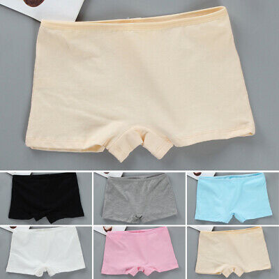 Kids Girls Teens Boxer Shorts Panties Briefs Knickers Cotton Comfy Underwear 8