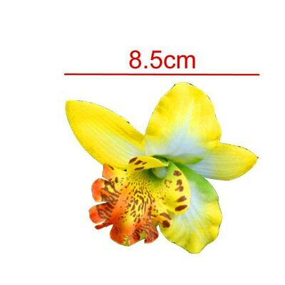Ladies Womens Girls Orchid Flower Bright Summer Holiday Festival Hair Clip Uk 3